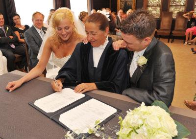 Tot slot de handtekening van Babs Anke Minnee