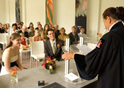 Sfeervol huwelijk in de Hortus Botanicus met Babs Anke Minnee